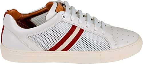 béisbol envío Inferir  Bally Men's 6217517 White Leather Sneakers: Amazon.co.uk: Shoes & Bags