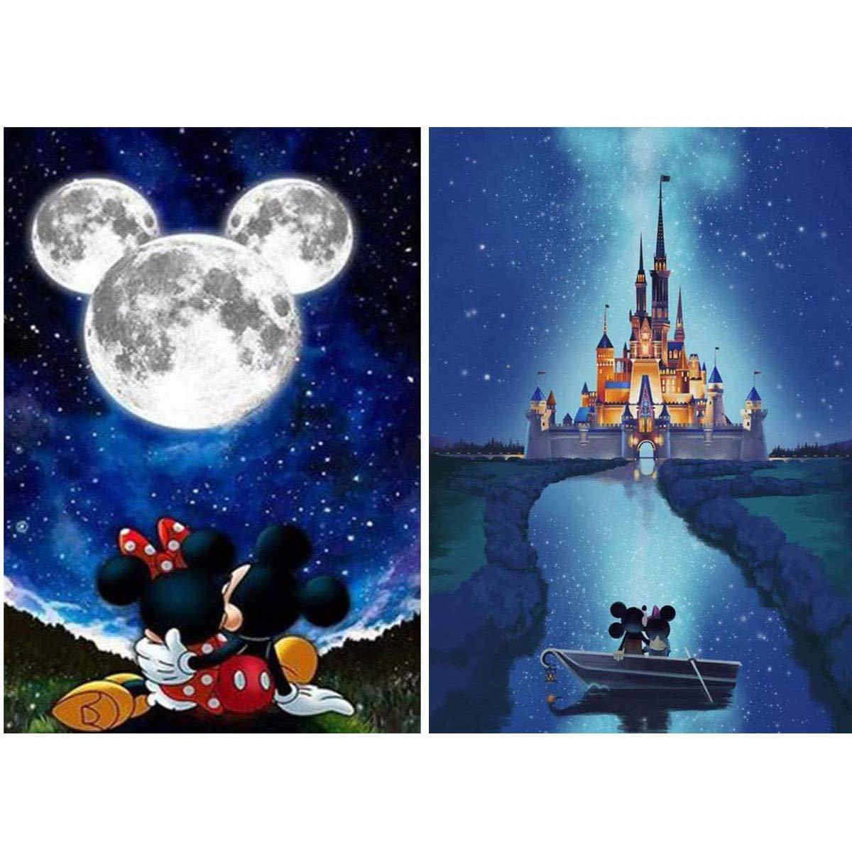 2 Pinturas por Diamantes Kit Completo Disney - 8F9X3N3T