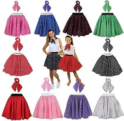 6bb332abbf9ed GIRLS POLKA DOT SKIRT 1950 S FANCY DRESS COSTUME - 17