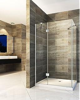 Extremely Duschkabine Dusche Duschwand 180° Schwingtür Eckeinstieg NANO Glas  PG21