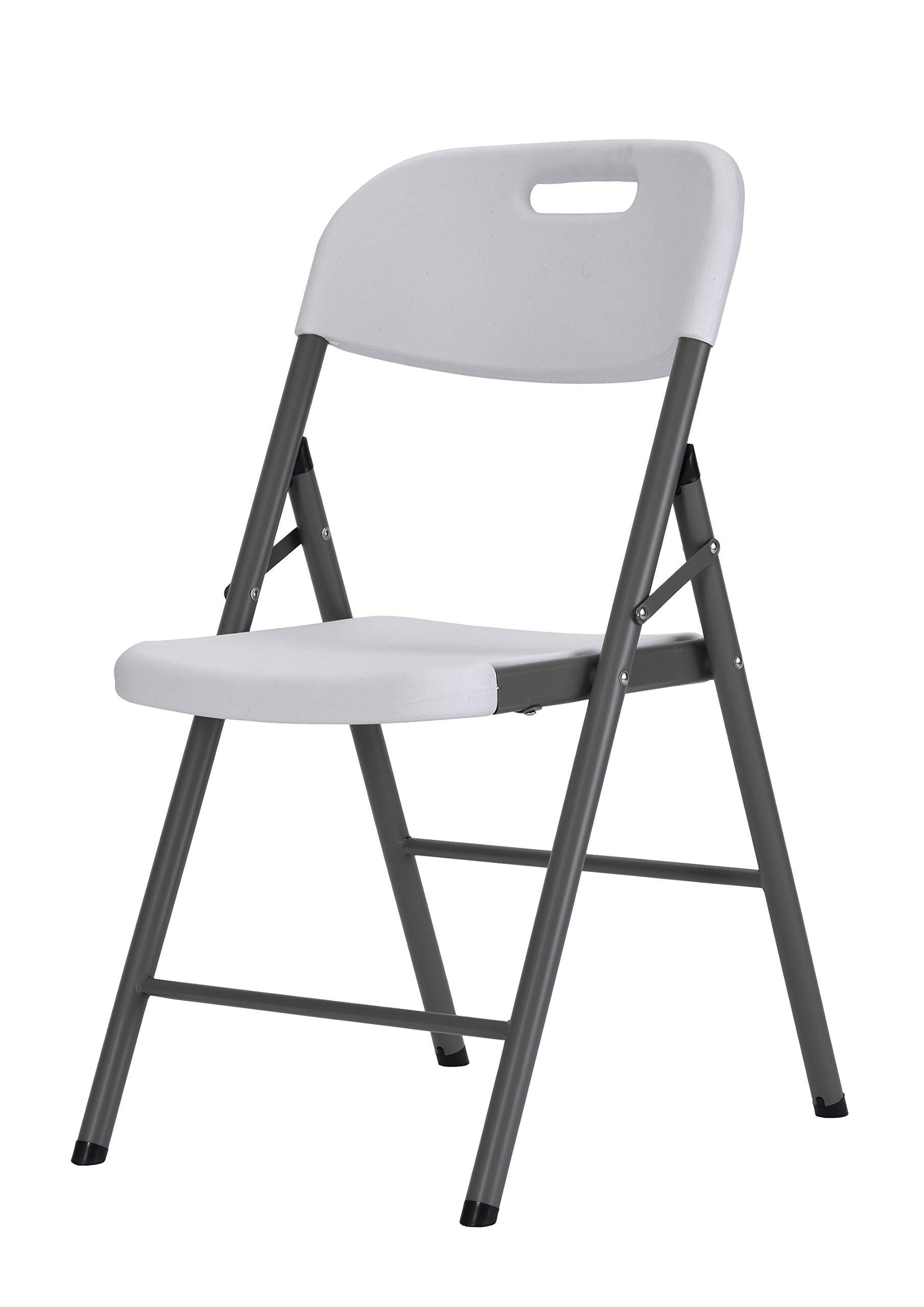 Sandusky Lee FPC182035-WV2 Resin Folding Chair, White (Pack of 4) by Sandusky