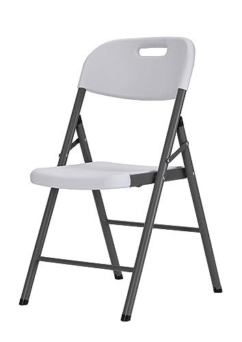 Sandusky Lee FPC182035-WV2 Resin Folding Chair, White Pack of 4