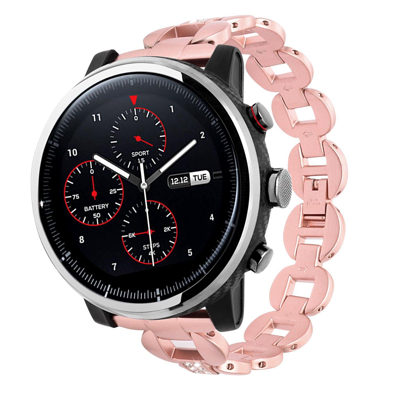 Lwsengme 20 mm、22 mm時計バンドクイックリリースステンレススチールブレスレット時計バンドストラップメンズレディースWatch、スマート腕時計( Not Include Watch Fitness ) B076BK16GZ  22mm-Rose Gold-01