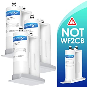 Waterdrop Refrigerator Water Filter, Compatible with EWF01, FC-300, FC300, EFF-6018A, 241988703, Pack of 3