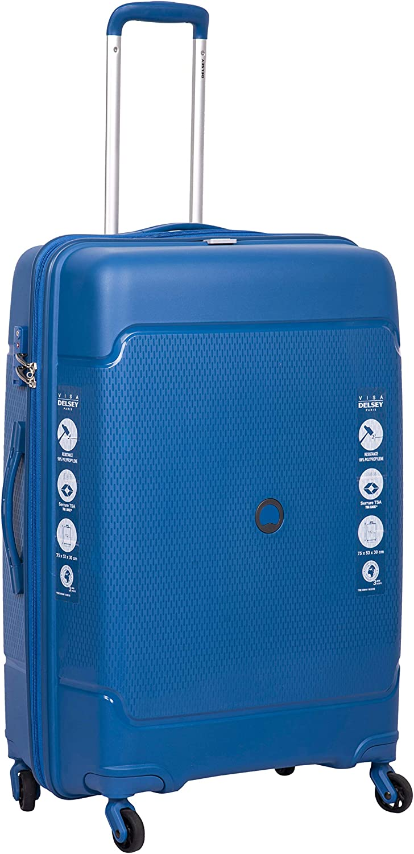 Delsey 3219110398236 bolsa de equipaje Tranvía Azul Polipropileno (PP) - Bolsa de viaje (Tranvía, Azul, Medio, Polipropileno (PP), 4 rueda(s), Cerradura con combinación)