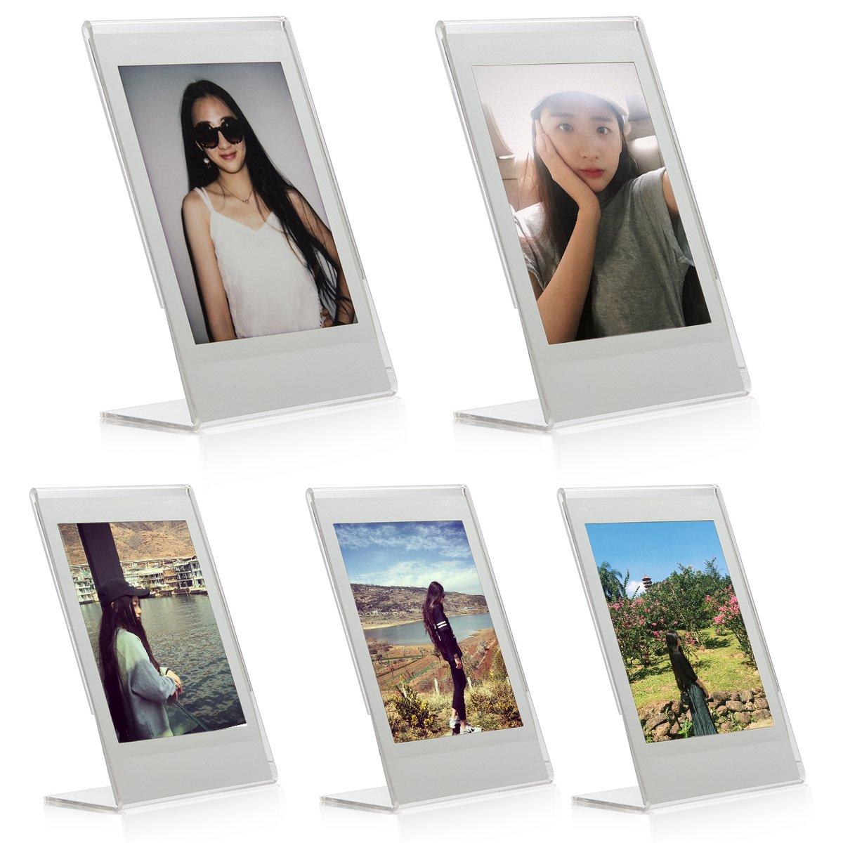 Woodmin L Instax Mini Foto Rahmen Transparent Mini Stand für ...