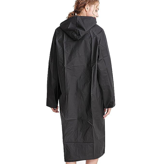 ebf4de1f06b Amazon.com  bestfur Women s Raincoat with Translucence ECO-EVA Fashion  Design  Clothing