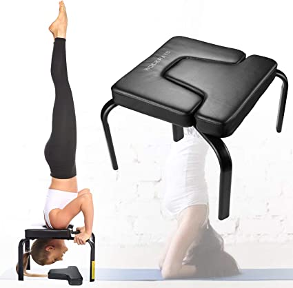 Yoga Chair Headstand Inversion Wood Bench Home Gym Fitness Equipment Trainer