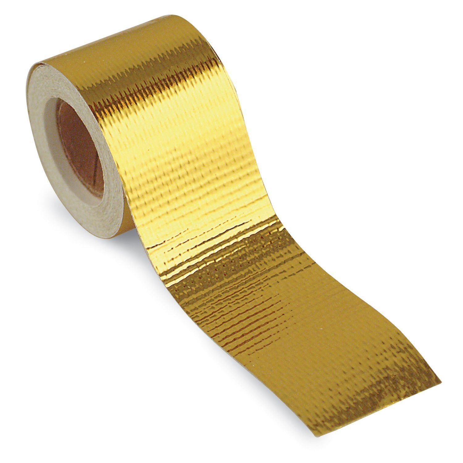 High-Temperature Heat Reflective Adhesive Backed Roll,Heat Wrap Tape High Temp Shield Reflective (Gold+2