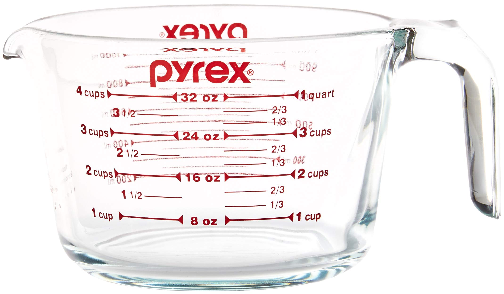 Pyrex SYNCHKG039125 4 Measuring Cup, Clear with Red Graphics by Pyrex