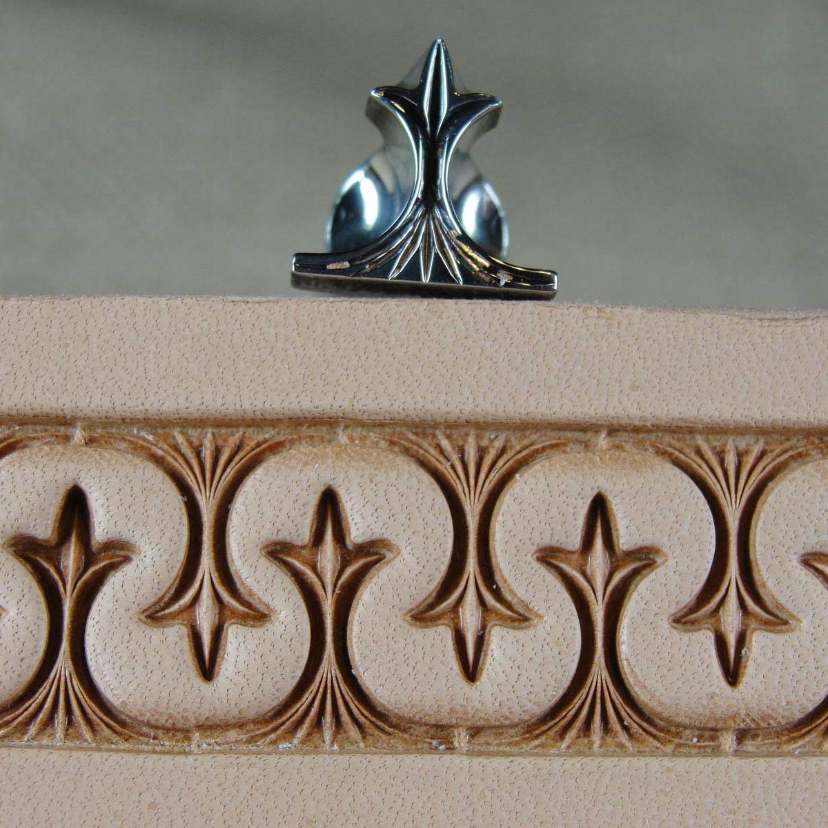 Stainless Steel Barry King - #3 Crown Serpentine Border Stamp (Leather Tool) by Pro Leather Carvers