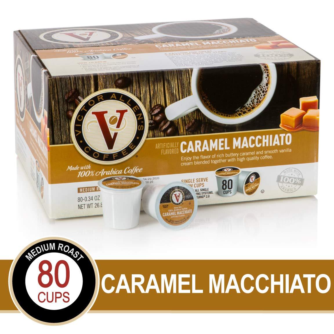 Caramel Macchiato for K-Cup Keurig 2.0 Brewers, 80 Count, Victor Allen's Coffee Medium Roast Single Serve Coffee Pods