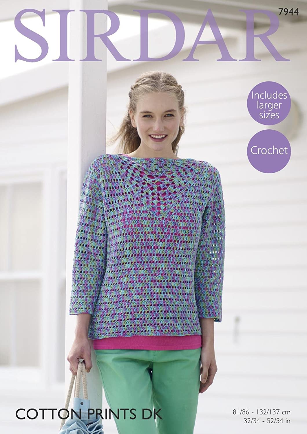 Sirdar Ladies Jacket Country Style Crochet Pattern 7994 4 Ply Sirdar-7994