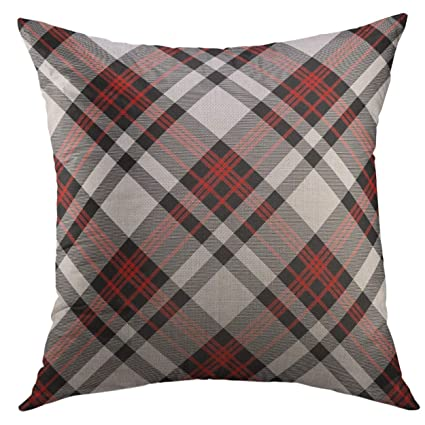 Amazon.com: Mugod Decorative Throw Pillow Cover for Couch Sofa,Red ...