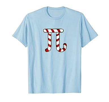 Amazon Funny Math Christmas T Shirt Pi Symbol Candy Cane Gifts