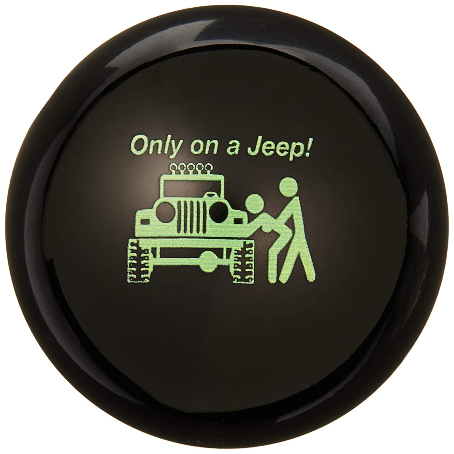 American Shifter 103773 Black Shift Knob with M16 x 1.5 Insert Green Only On A Jeep