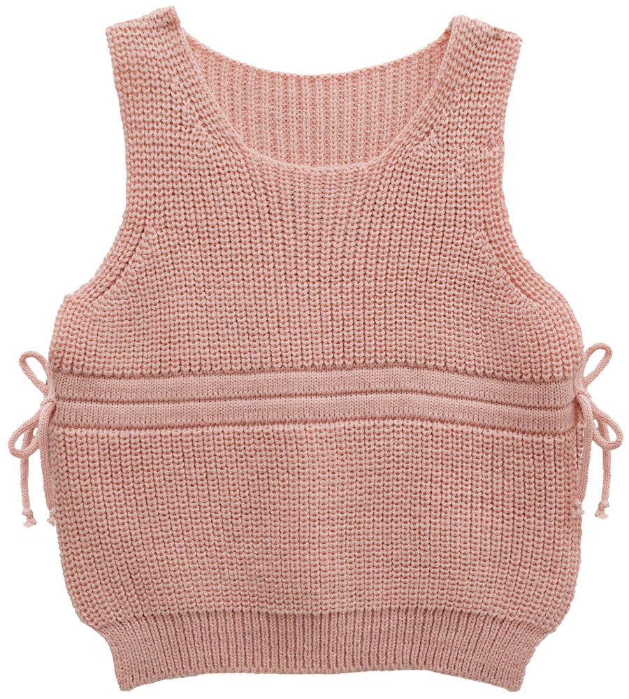 Moonnut Little Girls' Sleeveless Pullover Sweater Vest (Baby Girl/Toddler)