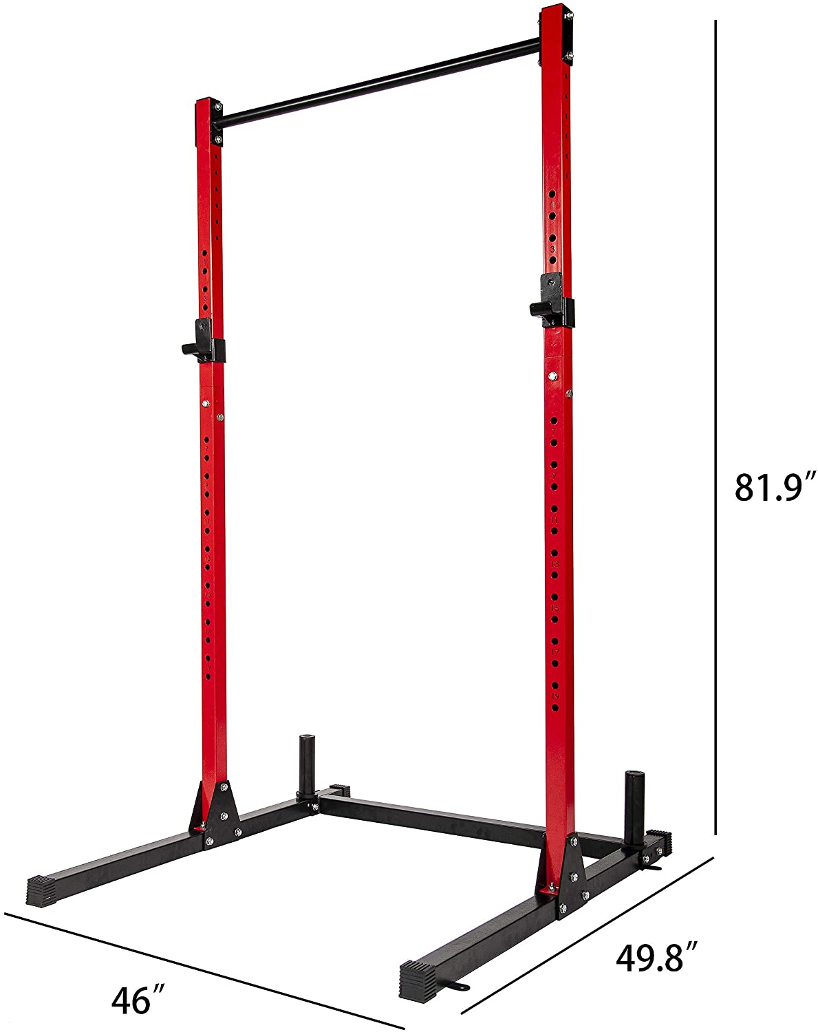 HulkFit Multi-Function Adjustable Power Rack Exercise Squat Stand with J-Hooks and Other Accessories,/Multiple Versions