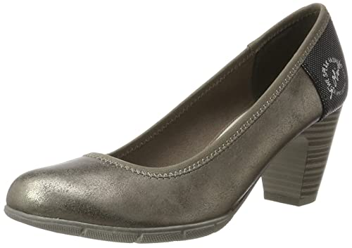 22405, Zapatos de Tacón para Mujer, Azul (Denim 802), 41 EU s.Oliver