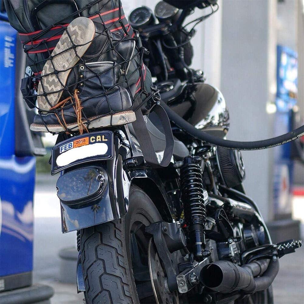 Fahrrad Gep/äck Motorrad Helm und Gurt Ladeger/ät Elastisches Netz f/ür Motorrad Schnur