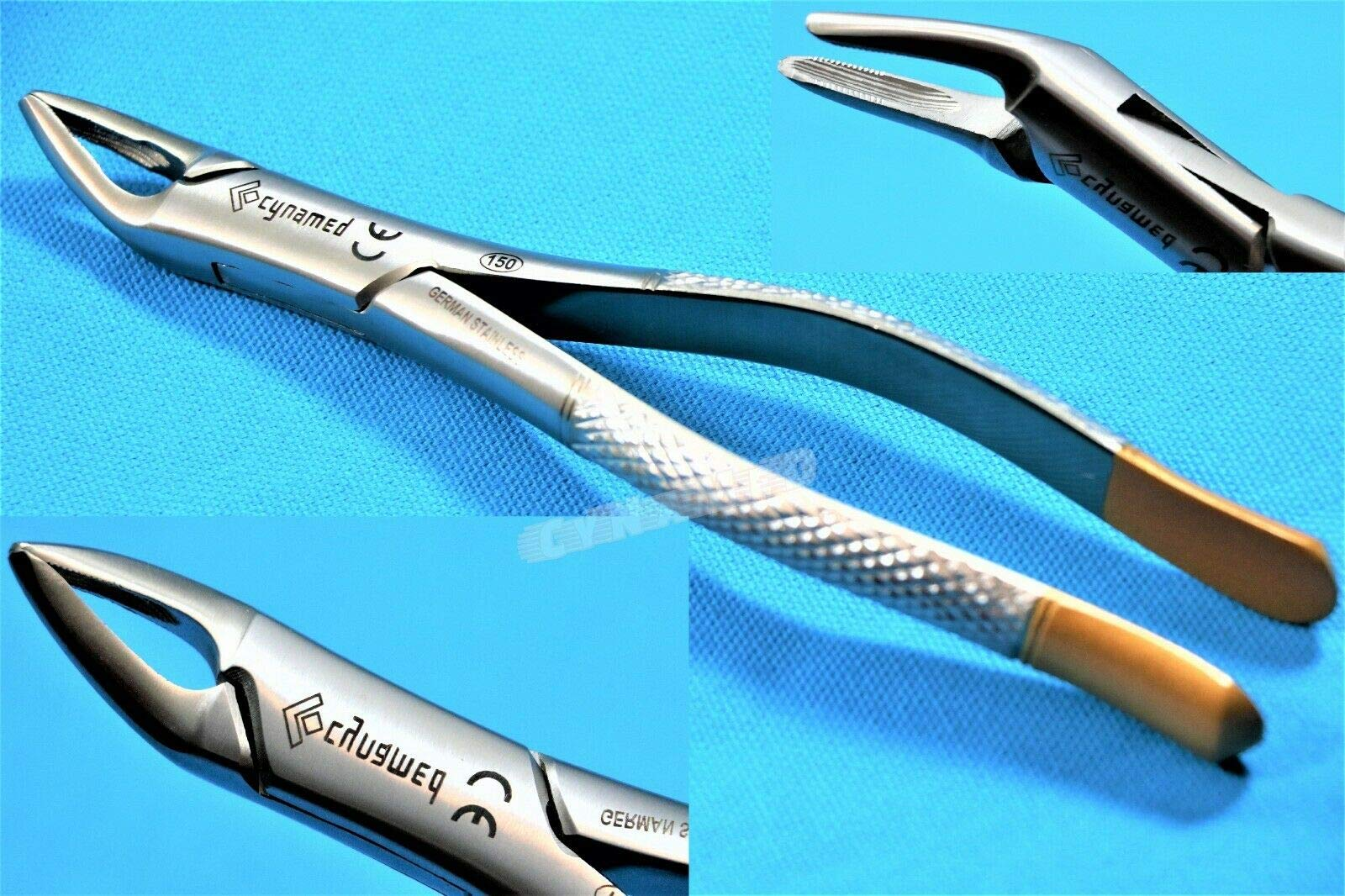New Heavy Duty Premium German Dental Extracting Extraction Forceps No 150 Dental Instruments by SYNAMED USA