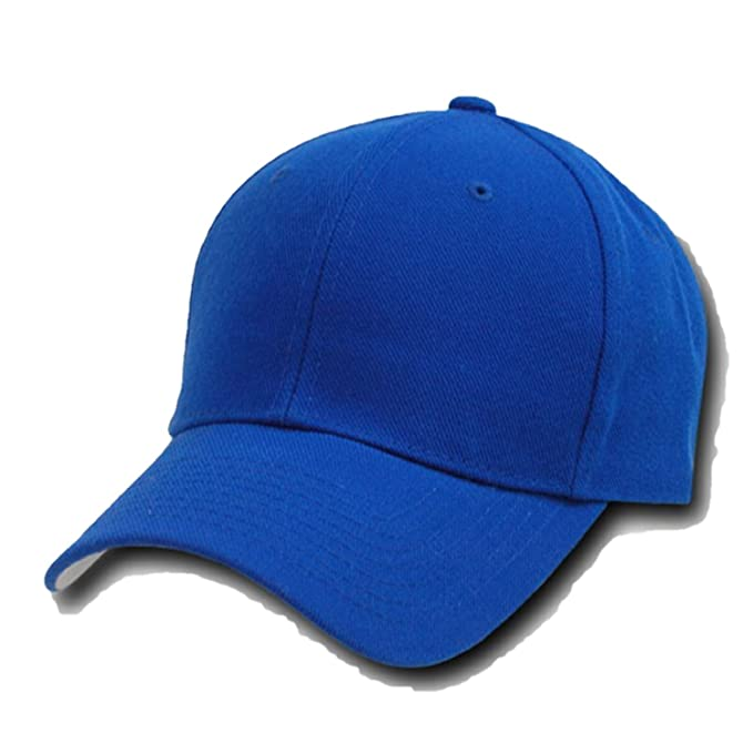 95027819b40 DECKY Plain Solid Fitted Baseball Cap Royal Blue (8 at Amazon Men s ...