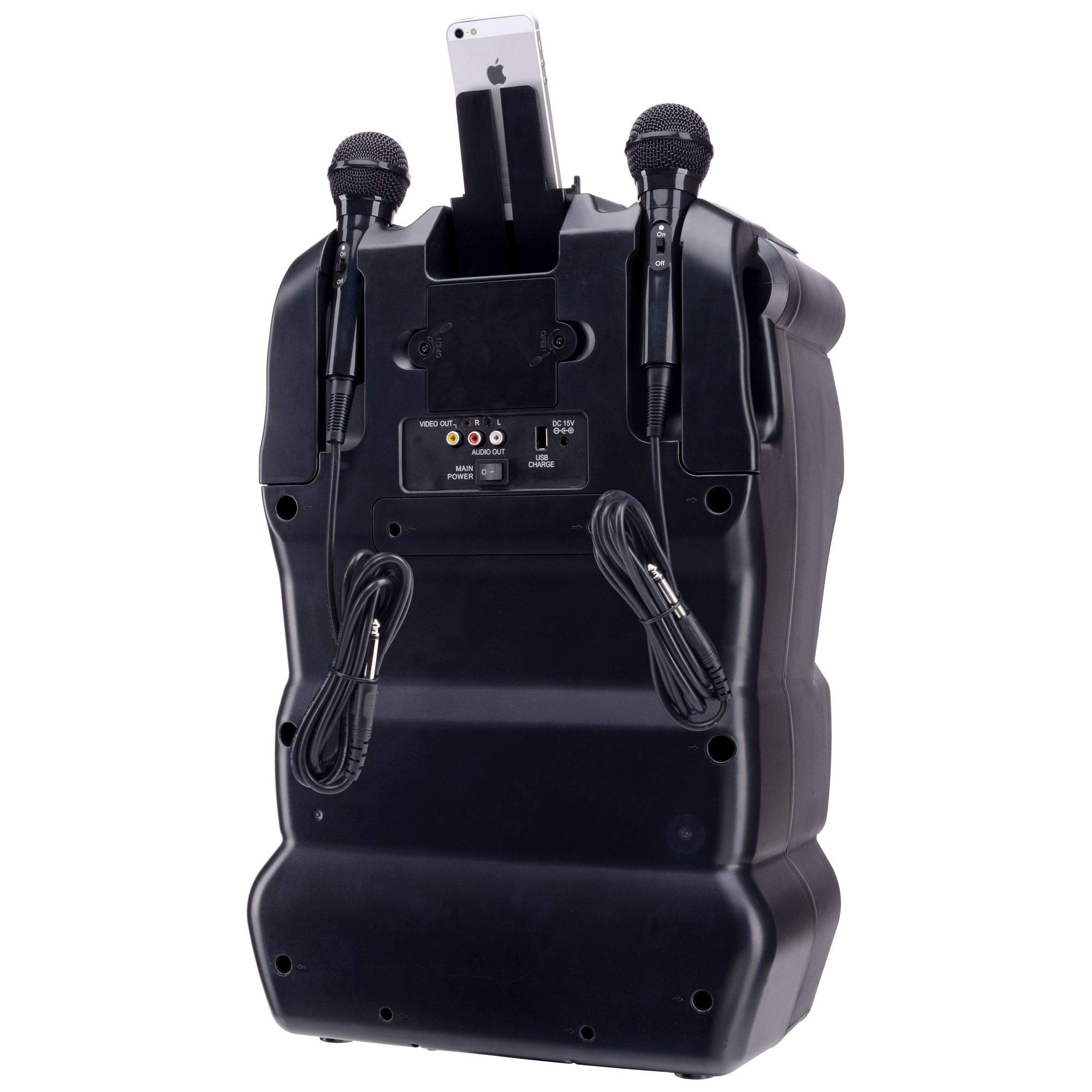 Karaoke USA GF920 Outdoor Portable Professional Bluetooth Karaoke Machine and PA System with Rechargeable Lithium Battery by Karaoke USA (Image #13)