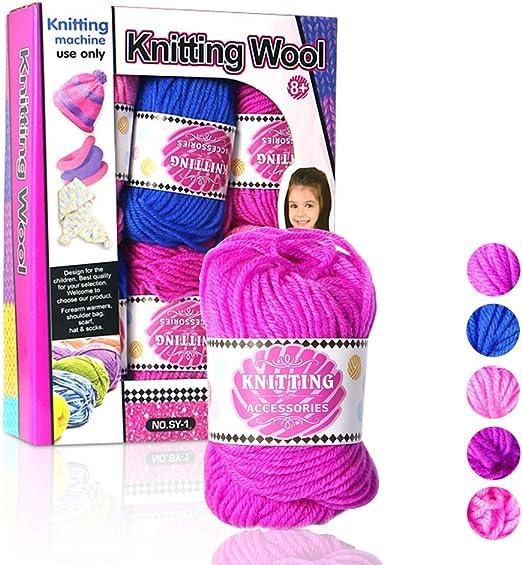 Grueso Y Suave De Crochet De Hilo Hilo De Algodón DIY De La Armadura De La Máquina De Tejer Tejer A Mano De Ganchillo De Lana Hilo, 6 Paquetes: Amazon.es: Hogar
