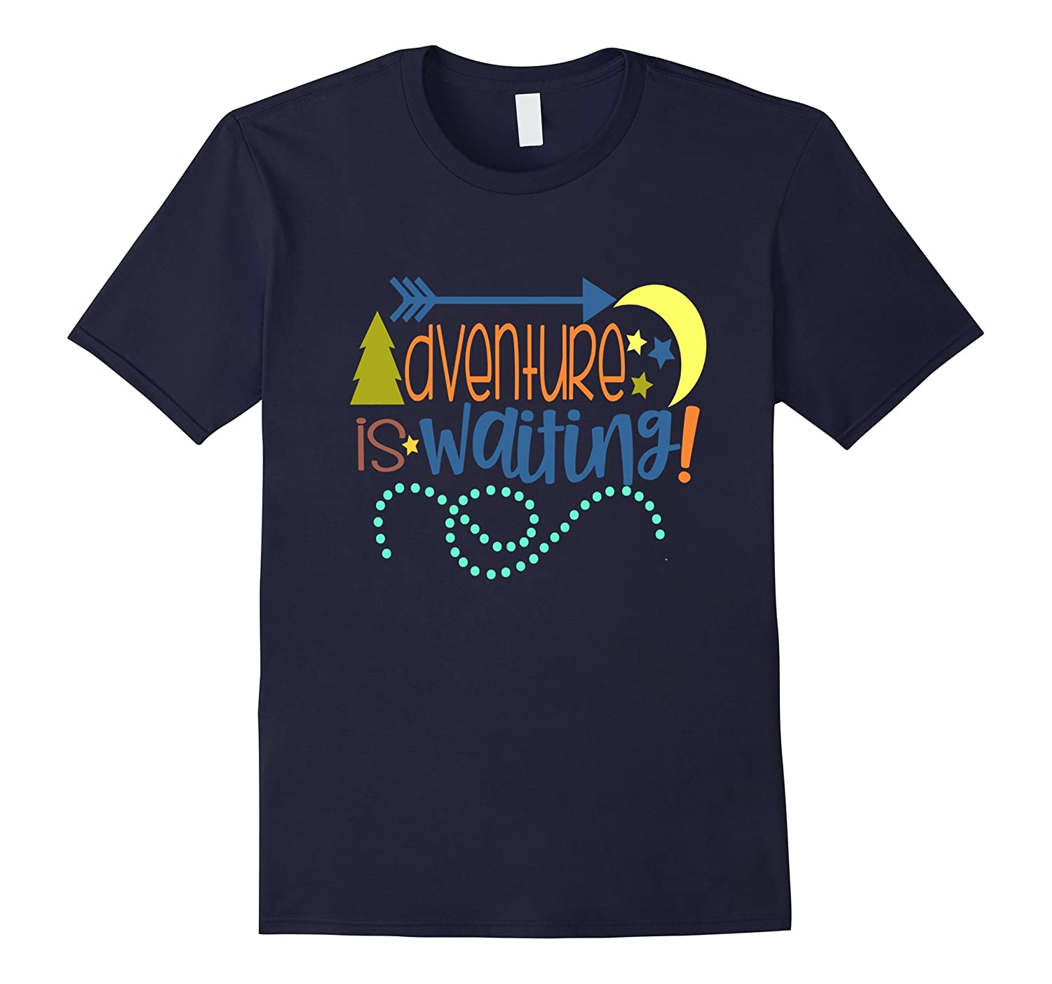 Cute Camping Shirt Camp Kids Adventure Is Waiting Moon Stars