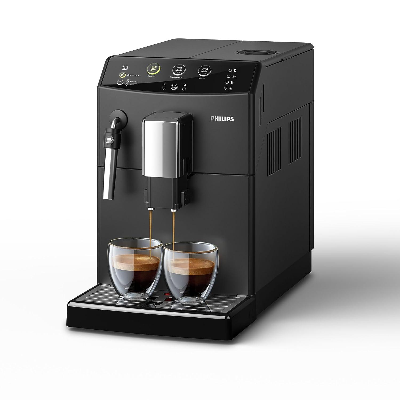 Philips 3000 series - Cafetera (Independiente, Máquina espresso, 1,8 L, Molinillo integrado, 1850 W, Negro)