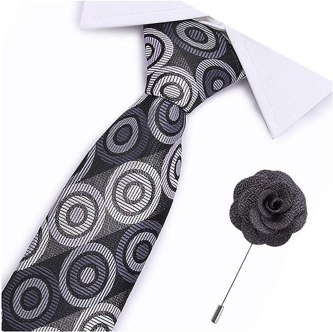 Pragmaticv 7, 5 cm de ancho corbatas sólidas corbata traje de seda ...