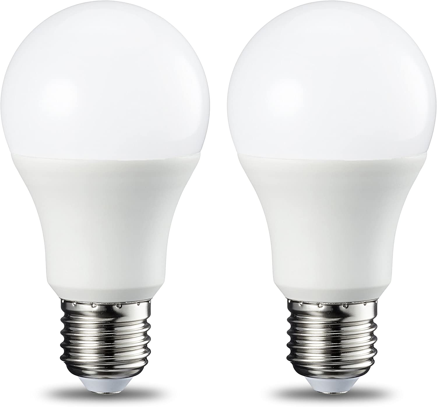 AmazonBasics LED E27 Edison Screw Bulb, 8.5W (equivalent to 60W), Cool White Pack of 2