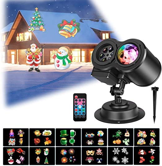 YLOVOW Proyector de Luces Navideñas,Luces Proyector Navidad LED ...