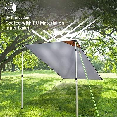 GEERTOP Camping Tent Tarp /& Footprint Waterproof Picnic Ground Cover Hammock Fly
