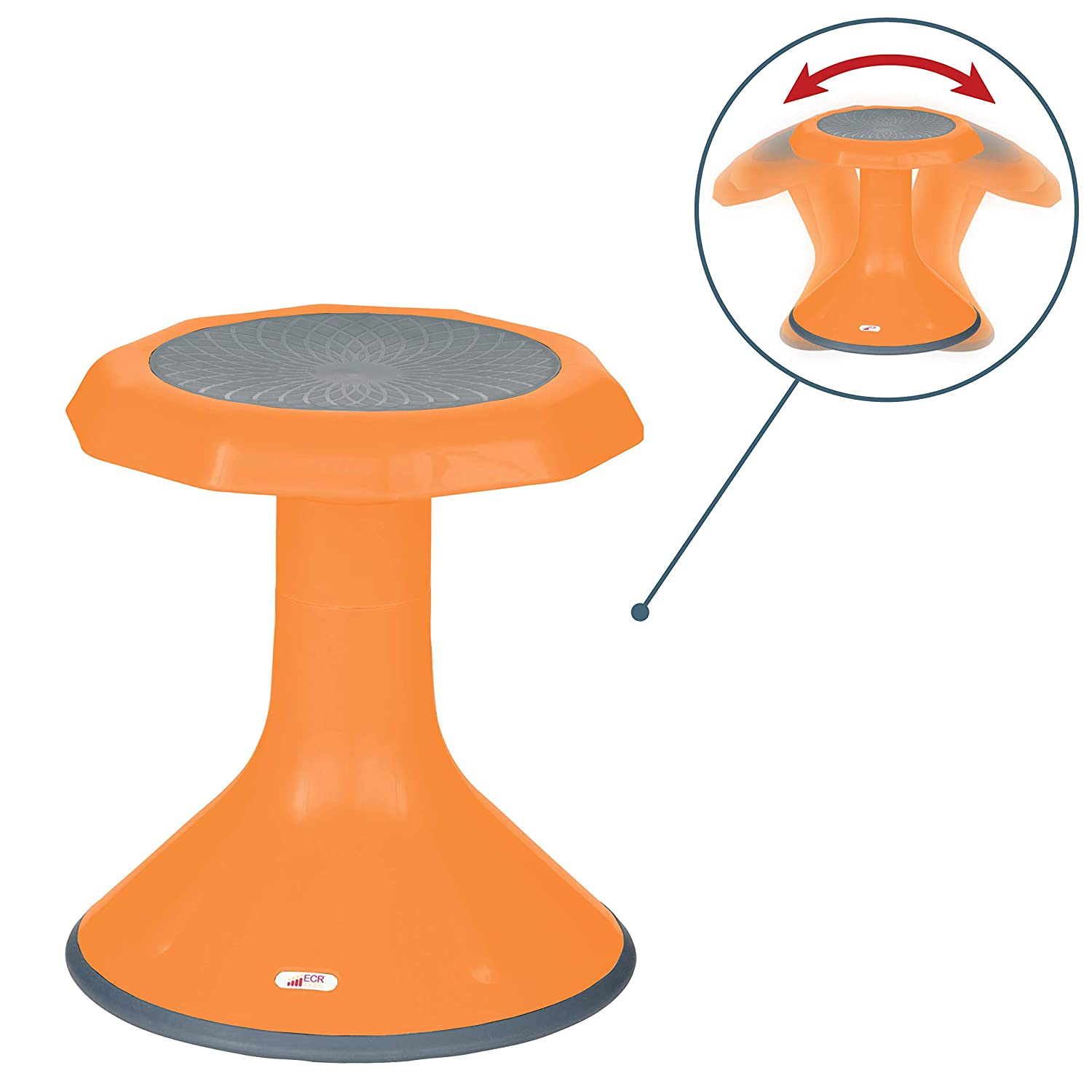 Kids/' Chair 18-inch Seat Height 360 Degree Movement ECR4Kids ACE Active Core Engagement Wobble Stool for Kids Flexible Seating Flexible Classroom /& Home Seating Wiggle Chairs Navy