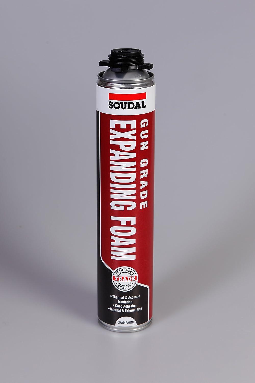 Soudal - Espuma expandible para pistola, beige: Amazon.es: Bricolaje y herramientas