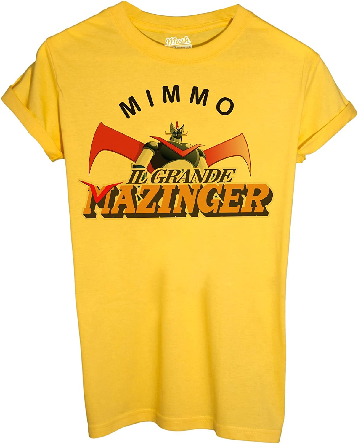Social by Dress Your Style MUSH T-Shirt MIMMO Verdone T-Shirt Mazinger