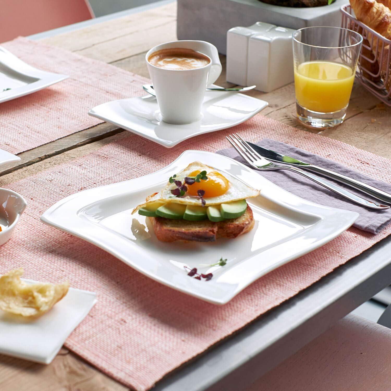 10 pi/èces Villeroy /& Boch NewWave Coffret dinitiation Blanc Porcelaine Premium