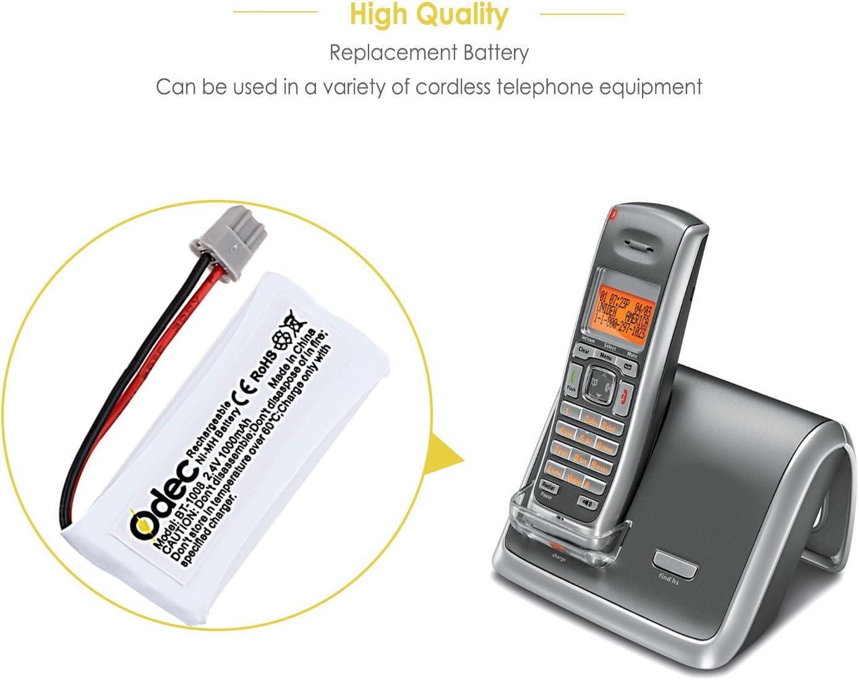 odec BT1008 Uniden teléfono Recargable, batería teléfono inalámbrico baterías 2,4 V 1000 mAh para BT-1008 BT1016 BT1021 DECT2080 dect20803 Empire CPH-515B cph515b (4 Unidades): Amazon.es: Electrónica