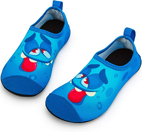 Girls/&Boys Unicorn Water Shoes Barefoot Slip-on Shoes,Kids Quick-Dry Aqua Aqua M