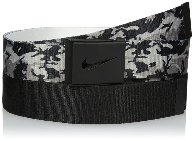 b0166d4e1b Nike Men's 2 Pack Web Belt, Black Camo/Black, One Size at Amazon ...