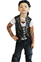 Toddler Biker Tattoo Costume Shirt
