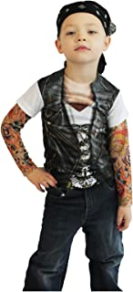 Toddler Biker Tattoo Costume Shirt  sc 1 st  Amazon.com : biker baby costume  - Germanpascual.Com