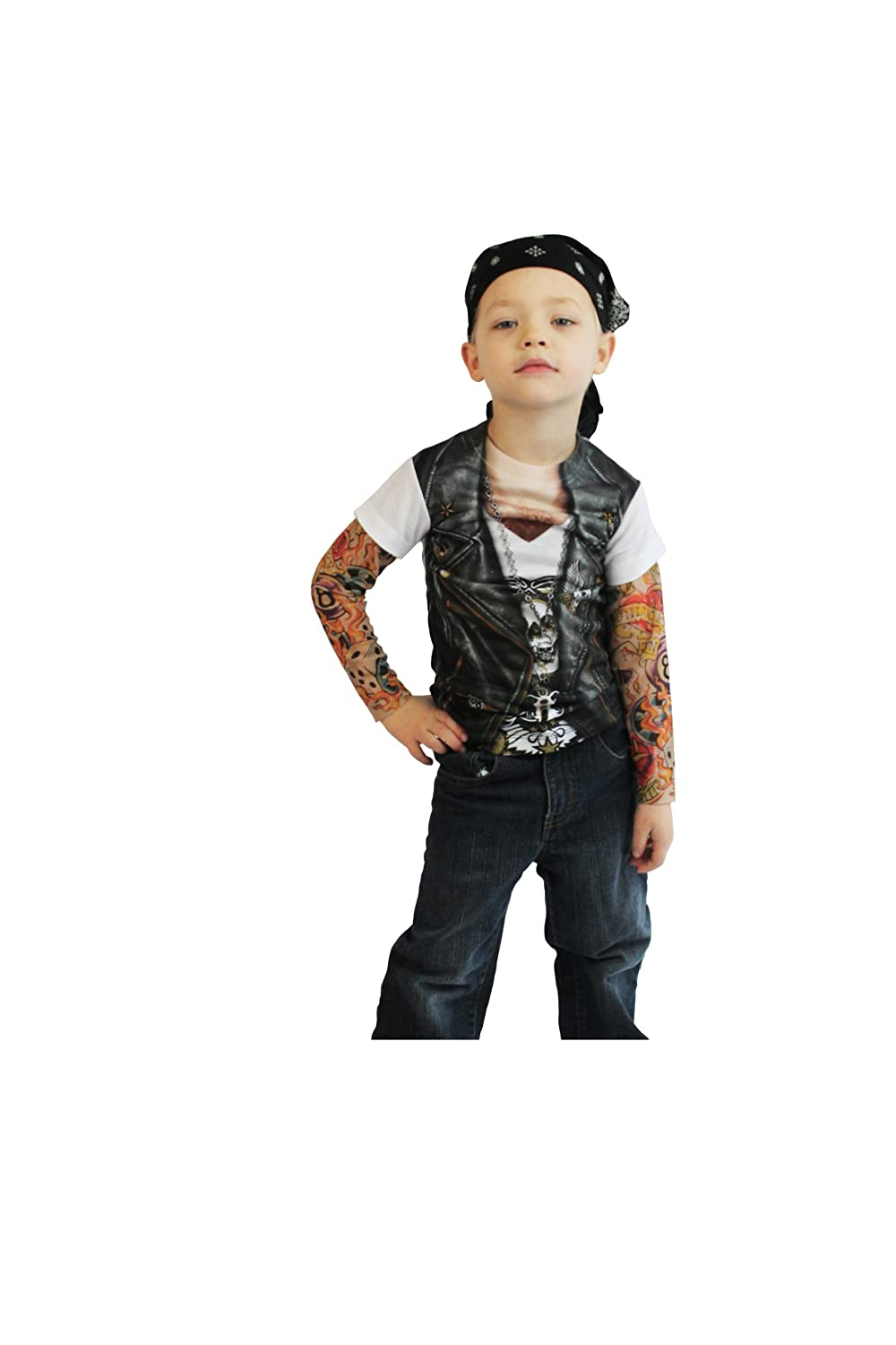 Toddler Biker Tattoo Costume Shirt