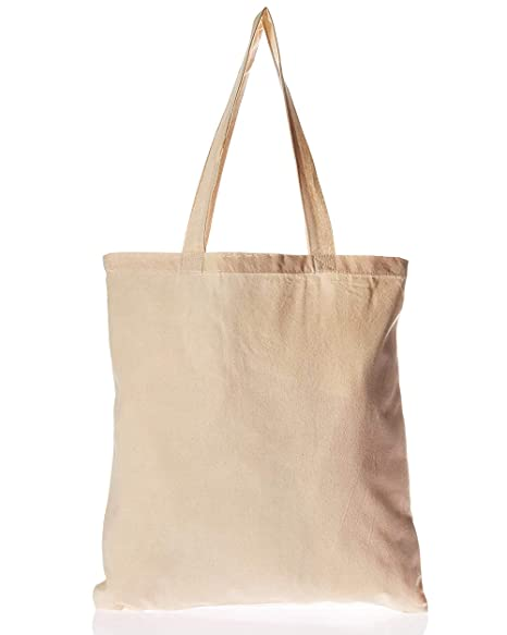 228ef21445f BagzDepot Canvas Tote Bags Wholesale - 12 Pack - Grocery Cotton Tote Bags  in Bulk, Reusable Bags for Decorating Crafts Blank Canvas Bags Events ...