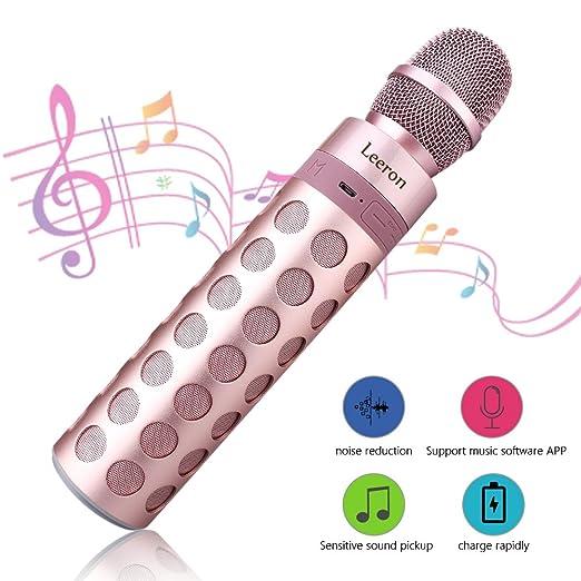 21 opinioni per Microfono Karaoke Bluetooth Wireless Microphone 4.1 Altoparlante Batteria di