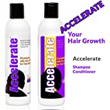 Accelerate Biotin Shampoo and Conditioner with He Shou Wu Extract and Emu Oil for Healthy Hair Growth