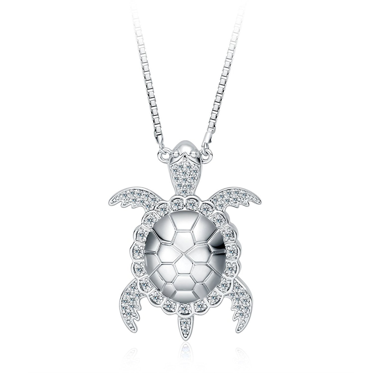 Ado Glo Her Birthday Gifts - 'Sea Turtle' Pendant Necklace - Fashion Jewelry for Women Girls - Anniversary Present for Her, Best Friends