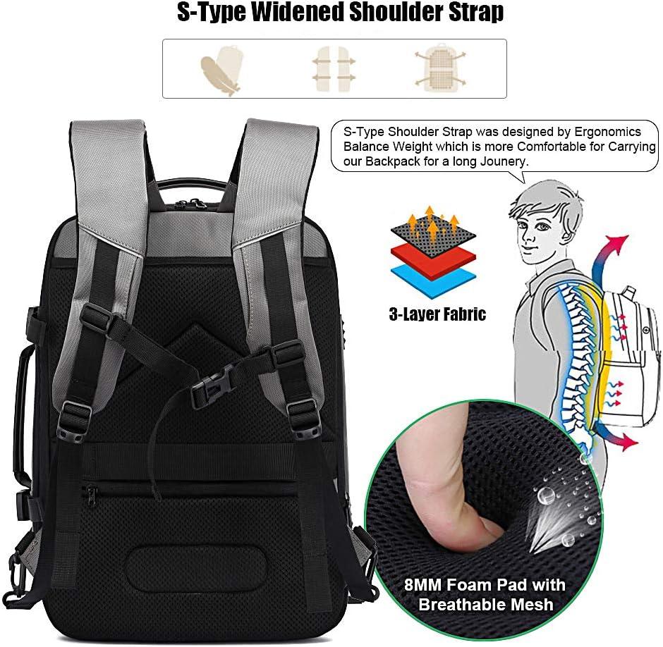 Extensible TSA Sac /à Dos daffaires avec Chargeur USB et Port de Casque Noir Xnuoyo 17.3 Pouces Sac /à Dos Ordinateur Portable