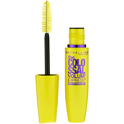 Maybelline Makeup Volum' Express The Colossal Waterproof Mascara, Glam Black Mascara, 0.27 fl oz best waterproof mascara